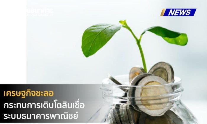 แบงก์ชาติเผยเศรษฐกิจชะลอกระทบการเติบโตสินเชื่อระบบธนาคารพาณิชย์