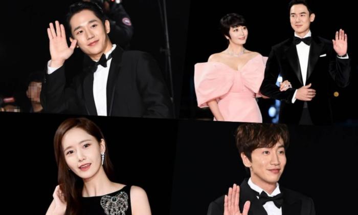 เหล่าคนดังเกาหลีปรากฎตัวบนพรมแดนงานประกาศรางวัลภาพยนตร์ Blue Dragon ครั้งที่ 40