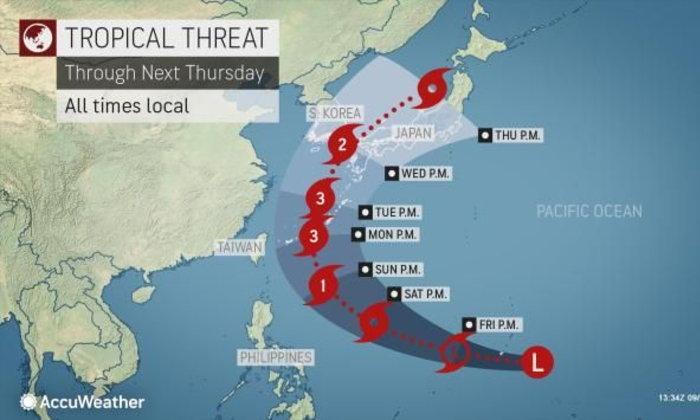 ญี่ปุ่น เกาหลีใต้ เตรียมพร้อมสำหรับพายุไต้ฝุ่นในต้นสัปดาห์หน้า