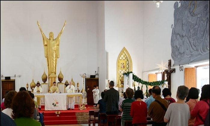 รับพรวันขึ้นปีใหม่ 2563 - โบสถ์คาทอลิก วัดพระมหาไถ่