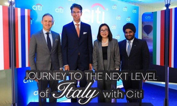 """ซิตี้แบงก์ เปิดตัวสิทธิประโยชน์ท่องเที่ยวอิตาลีแบบเหนือระดับ  """"Journey to the Next Level of Italy with Citi""""  เอกสิทธิ์สำหรับสมาชิกบัตรฯ ซิตี้ เท่า..."""
