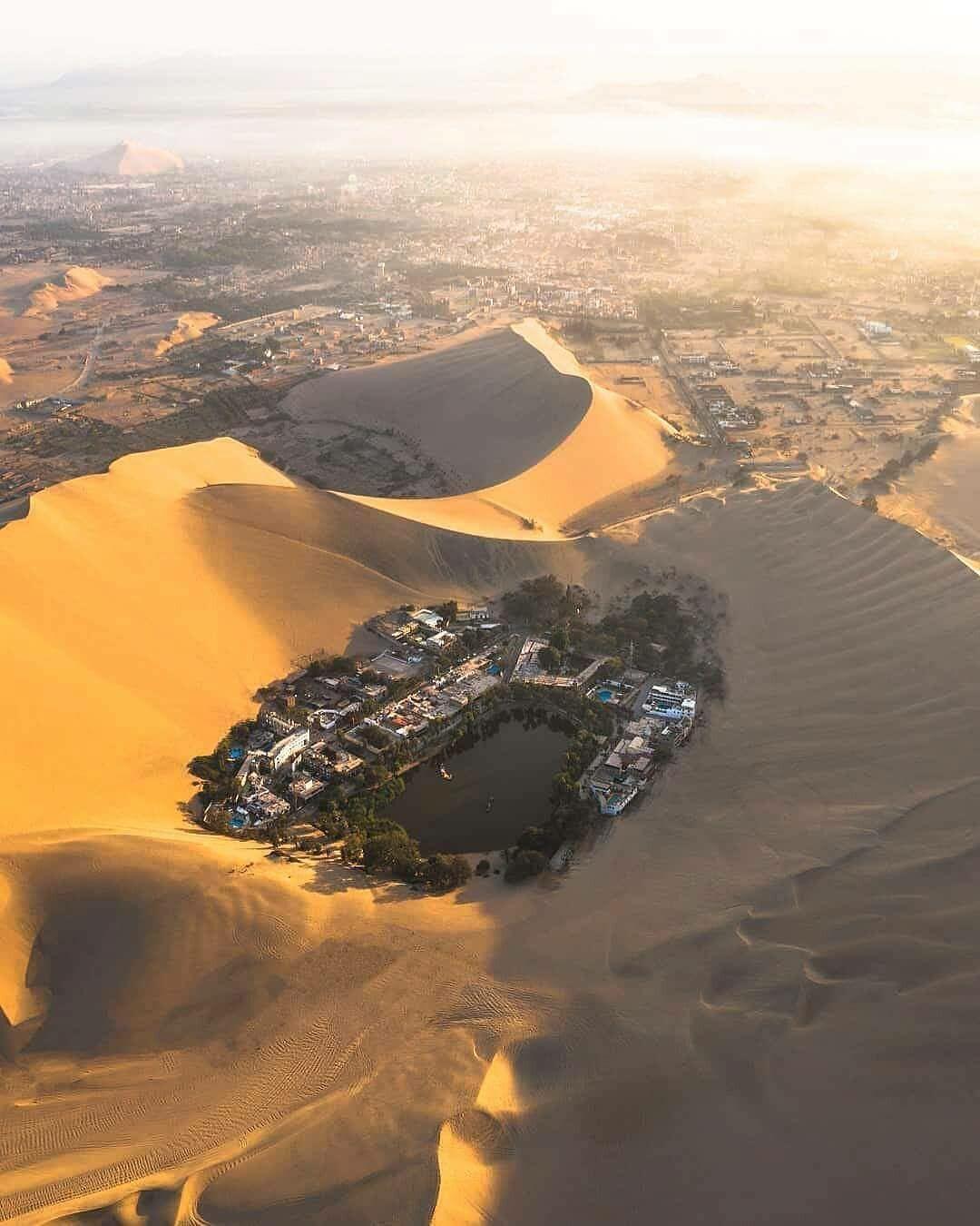 โอเอซิสกลางทะเลทราย ที่ เปรู