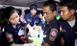 สะเทือนใจ รปภ.หมู่บ้านพบทารกถูกทิ้งข้างสระน้ำคลองหลวง