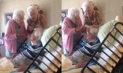 น่ารัก คุณยายป่วยนอนรพ. สองเพื่อนซี้นัดเยี่ยม หวีผมให้
