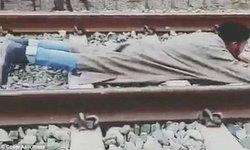 หนุ่มนศ.อินเดียท้าตาย นอนกลางรางให้รถไฟวิ่งผ่าน