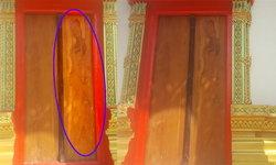 สุดอึ้ง! ประตูโบสถ์ปรากฏรูปนางไม้ แห่ขอเลขเด็ด