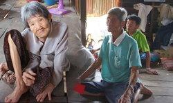 สุดเวทนา ยายวัย 81 ปี เป็นโรคพาร์กินสัน เลี้ยงสามีตาบอด และลูกพิการทางสมอง