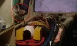 กู้ภัยขนหัวลุก ถ่ายภาพติดใบหน้าปริศนาบนรถฉุกเฉิน เชื่อเป็นผีตายโหง