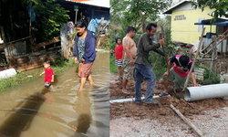 ชาวบ้านแก้ปัญหาเอง หลังทนน้ำท่วมมา 8 ปี ไร้การเหลียวแล