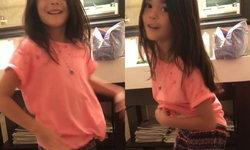 น้องลียา โชว์สเต็ปเต้นในห้องน้ำ คุณแม่ธัญญ่าแอบถ่ายคลิปแม้กลัวโดนลูกดุ