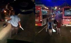 คนขับเมล์ 39 ลากดาบท้าตีกลางถนน อู่แจงแค่อากาศร้อนนิสัยเลยเปลี่ยน