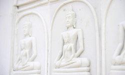 สวยงามหนึ่งเดียวในไทย นำพระสมเด็จปูฝาผนังโบสถ์