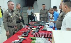 กวาดล้างมาเฟีย จับปืน 22 กระบอก กระสุน 3,722 นัด ยาบ้า 6,000 เม็ด