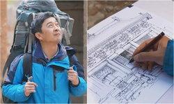 ชายจีนหลงใหลการวาดภาพโบราณสถาน เดินทางวาดมานานถึง 20 ปี