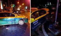 """ลุงแท็กซี่ไม่โกรธ """"หลานสุเทพ"""" ทุบรถ ค่าเสียหายให้หักเบี้ยชราจนกว่าจะตาย"""