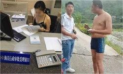 อย่าด่วนวิจารณ์ ชาวเน็ตจีนแห่ปกป้องเจ้าหน้าที่ราชการสวมชุดชวนใจหวิว