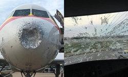 เหมือนบินฝ่าดงกระสุน เครื่องบินจีนเผชิญหน้าพายุลูกเห็บอย่างจัง
