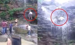 หนุ่มอินเดียหวิดดับ ถ่ายเซลฟี่บนน้ำตก แต่ลื่นหินร่วงลงมา กระดูกเชิงกรานหัก