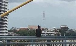 นายแบบกระโดดสะพานพระราม 8 คนเห็นว่ายเกือบถึงฝั่ง แต่จมหายเสียก่อน