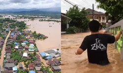 """น้ำท่วม """"น่าน"""" วิกฤต ระดับน้ำเพิ่มสูงต่อเนื่อง อุตุเตือน """"เบบินคา"""" ทำฝนเพิ่ม"""