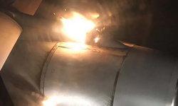 ผู้โดยสารถ่ายภาพเครื่องบินรัสเซีย ขณะไฟลุกเครื่องยนต์