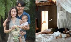 """""""เอ้ก บุษกร"""" เผยประสบการณ์นอนบนเตียง 3 คน พ่อ แม่ ลูก ครั้งแรก ที่ต้องเข็ดไปอีกนาน"""