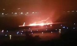 นาทีระทึกขวัญ เครื่องบินรัสเซียฝ่าลมฝน เสียหลักกระแทกรันเวย์ไฟลุก