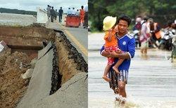 เมียนมาเขื่อนแตก! ทะลักท่วมนับ 100 หมู่บ้าน อพยพคน 5 หมื่นหนีน้ำ