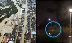 ภาพช็อก ซัวเถาเจอฝนถล่ม ชาวบ้านถูกไฟดูดดับ 2 ร่างลอยกลางน้ำท่วม