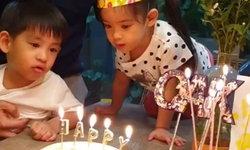 """วินาที """"หมอโอ๊ค"""" ยิ้มมีความสุข ปีแรกที่ลูกๆ ร้องเพลงวันเกิดให้พ่อฟัง"""