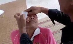 เปิดคลิปเซลล์น้ำสมุนไพร โชว์หยอดตาจะๆ ปัดทำให้คุณยายตาบอด