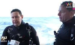 """นักดำน้ำต่างชาติช่วย """"เรือล่ม"""" เชื่อไม่มีผู้รอดชีวิตเพิ่ม คาดผู้สูญหายที่เหลือติดอยู่ท้ายเรือ"""