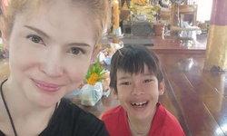 """""""แอนนี่ บรู๊ค"""" ชื่นใจ """"น้องฑีฆายุ"""" เรียนดี ได้เกรด 4 เกือบทุกวิชา แม้ภาษาไทยไม่แข็งแรง"""