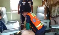 """ผู้โดยสารแตกตื่น """"ผู้กอง"""" ชักเกร็งหมดสติคาตู้รถไฟ ปั๊มหัวใจแต่ยื้อไม่รอด"""