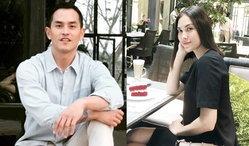 """หวานมากๆ """"สงกรานต์-แมท"""" ออกงานคู่ครั้งแรก ชิมกาแฟไปส่งสายตาให้กันเป็นระยะ"""