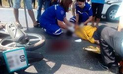 สุดเศร้า-นักเรียนหญิงขี่ จยย.พุ่งตัดหน้ามอเตอร์ไซค์หนุ่มโรงงาน ศีรษะแตกเสียชีวิตทั้งคู่