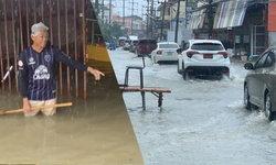 พัทยายังอ่วม ฝนตกหนักหลายพื้นที่ น้ำทะลักท่วมบ้านเรือนประชาชน