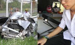 หกล้อชนท้ายรถเก๋งอัดก๊อปปี้หนุ่มสินเชื่อตายคาซาก นศ.ฝึกงานรอดตายหวุดหวิด