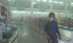 ระทึก! ไฟไหม้ร้านหนังสือชื่อดัง พนักงานแทบช็อกควันโขมงเต็มร้าน