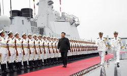 """ฮึกเหิม """"สี จิ้นผิง"""" ตรวจพล """"พาเหรดกองทัพเรือ"""" ครบรอบ 70 ปี กองทัพเรือจีน"""