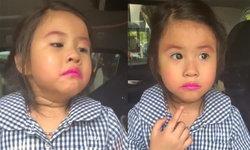 """ซีนดราม่าก็มา """"น้องมายู"""" ร้องไห้สะอื้น โดน """"แม่เมย์"""" ดุเพราะทาลิปสติกไปโรงเรียน (คลิป)"""