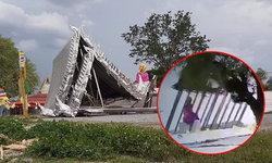 เปิดคลิประทึก โบสถ์สแตนเลส 12 ล้าน วัดดอนเก้า เจอพายุพัดพังถล่ม