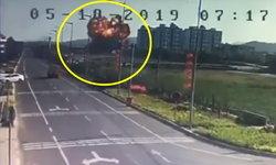 ช็อก เครื่องบินขับไล่จีนตกแนวดิ่ง กระแทกพื้นระเบิดลูกไฟยักษ์ลุกโชน