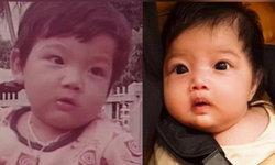 """สำเนาถูกต้อง """"พ่อศรราม น้องวีจิ"""" ในวัยแบเบาะ หน้าเหมือนกันเป๊ะ คิดว่าเป็นฝาแฝด"""