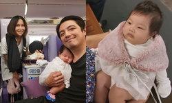"""""""ศรราม"""" พาลูกเมียไปฝรั่งเศส บินครั้งแรกของ """"น้องวีจิ"""" อบอุ่น"""