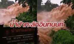 น้ำป่าไหลทะลักดอยอินทนนท์ อุทยานสั่งปิดน้ำตกดัง เตือนภัยน้ำล้นตลิ่ง