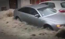 เหมือนฉากหนังหายนะ! เมืองหลวงสเปนอ่วม น้ำท่วมผสมพายุลูกเห็บ (มีคลิป)