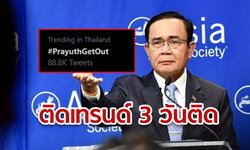 #PrayuthGetOut ครองเทรนด์ทวิตเตอร์ 3 วันซ้อน แถมผุดแท็กใหม่ #นายกกูเกิล