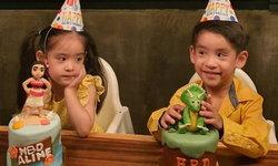 """""""อลิน-อลัน"""" โชว์ร้องเพลง รักติดไซเรน เวอร์ชั่นพิเศษ ฉลองวันเกิด 4 ขวบ (คลิป)"""