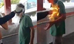 """""""ชายถูกจุดไฟเผาทั้งเป็น"""" ในฮ่องกงฟื้นแล้ว แต่จำลูกสาวตัวเองไม่ได้"""